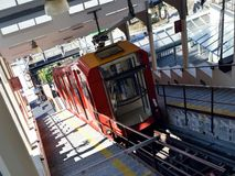 Brunate's funicular Stock Images