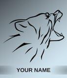 Brunbjörnlogotypsymbol Royaltyfria Bilder