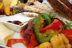 Brunch. Delicious and colorful brunch with fruit and toast Stock Photo