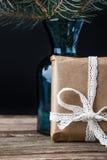 Brunch actuel d'arbre de sapin dans le vase Photographie stock