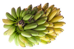 Brunch of bananas. A bunch of bananas on white background Stock Images