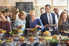 Brunch Choice Crowd Dining Food Options Eating Concept Stock Photos