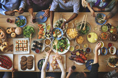 Brunch Choice Crowd Dining Food Options Eating Concept Stock Images