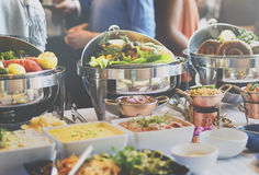 Brunch Choice Crowd Dining Food Options Eating Concept Royalty Free Stock Photos