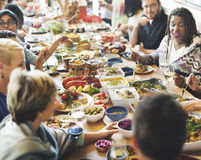 Brunch Choice Crowd Dining Food Options Eating Concept Stock Photography