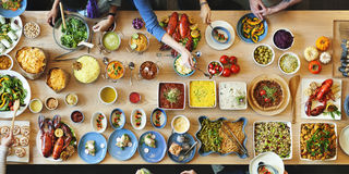 Brunch Choice Crowd Dining Food Options Eating Concept Royalty Free Stock Photo