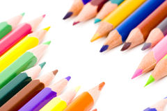 Brunch of colored crayons Stock Photos