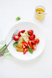Brunch crepes with berries Royalty Free Stock Photography