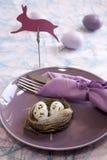 Brunch de Pâques Photographie stock libre de droits