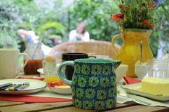 Brunch in de tuin Stock Fotografie