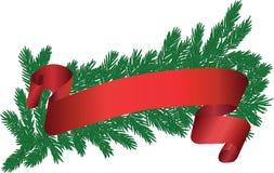 Brunch dell'albero con il nastro rosso Immagine Stock Libera da Diritti