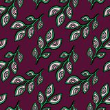 Brunch eyes leaves seamless pattern. Background Royalty Free Stock Photos