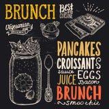 Brunch poster for restaurant. Stock Photography