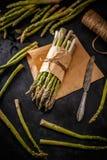 Organic green aspargus stock photos