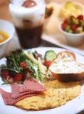 BRUNCH,ham,egg,toast Stock Photography