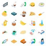 Brunch icons set, isometric style Royalty Free Stock Images