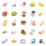 Brunch icons set, isometric style Stock Image