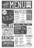 Brunch menu restaurant, food template. Royalty Free Stock Photo