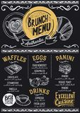 Brunch menu restaurant, food template. Stock Photography