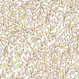 Brunch nature hand drawn seamless pattern  pastel Stock Images