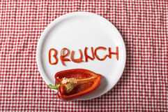 Brunch pepper shape on plate Stock Photography