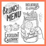 Brunch poster for restaurant. Royalty Free Stock Image