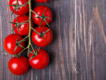 Brunch of red cherry tomatoes Stock Images