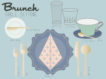 BRUNCH TABLE SETTING Royalty Free Stock Photo