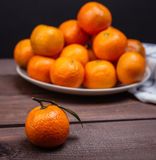 Brunch of tangerines Stock Photo