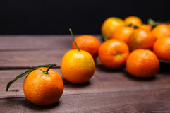 Brunch of tangerines Stock Images