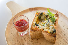 Brunch-Toast-Ei Lizenzfreies Stockbild