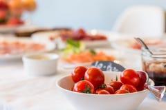 Brunch/tomates/desayuno foto de archivo libre de regalías