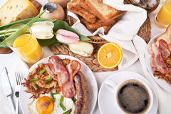 Brunch traditionnel de Manhattan Photos stock