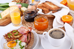 Brunch traditionnel de Manhattan Photographie stock