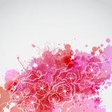 Brunch von Kirschblüte mit rosa Flecken Stockfotos