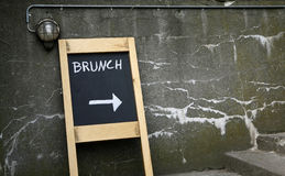 Brunch this way Royalty Free Stock Image