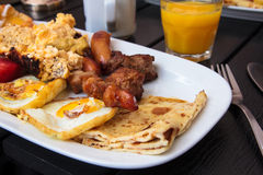 Brunch on a white plate Stock Photos