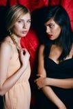 Brune et femme blonde ensemble, conflit de Photographie stock libre de droits