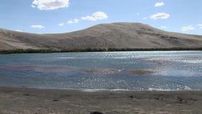 Bruneau sand dunes idaho 13 desert lake stock footage