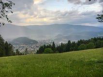 Bruneck Brunico desde arriba Fotografía de archivo libre de regalías