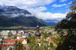 Bruneck Italië stock afbeeldingen