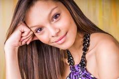 Bruneete 'sexy' do modelo de forma da mulher da menina fotografia de stock