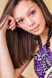 Bruneete 'sexy' do modelo de forma da mulher da menina imagem de stock royalty free