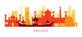 Brunei Architecture Landmarks Skyline, Shape vector illustration