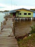 Brunei. Bandar van de binnenstad. Het typische huis van Ayer van Kampung Royalty-vrije Stock Foto
