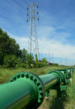 Brunei. Crude Oil Pipe. Brunei Energy. Crude Oil Pipeline & Electricity royalty free stock photography