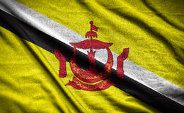 Brunei Darussalam flag.flag on background Royalty Free Stock Photography