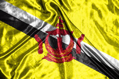 Brunei Darussalam flag .flag on background Stock Photography