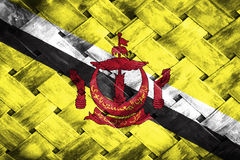Brunei Darussalam flag, flag on the wood Stock Photo