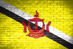 Brunei Darussalam flag,wall texture background Royalty Free Stock Images
